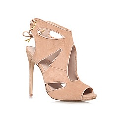 KG Kurt Geiger - Nude 'Hattie' high heeled courts