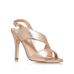 Miss KG - Gold 'Glenda' mid heel occasion shoes