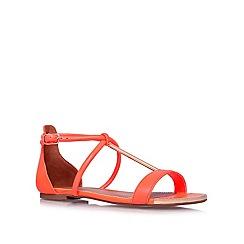 Miss KG - Orange 'Della' flat sandals
