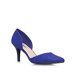Miss KG - Blue 'Celina2' mid heel courts