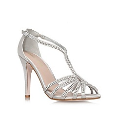 Miss KG - Silver 'Pippa2' High Heel Occasion Shoes