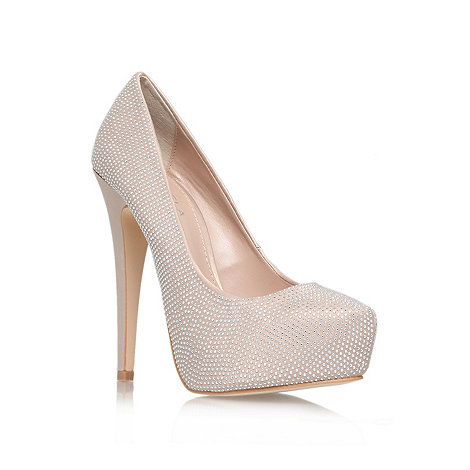 Carvela - Nude +Karina+ high heel courts