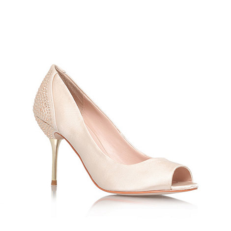 Carvela - Nude +Lottie+ mid heel courts