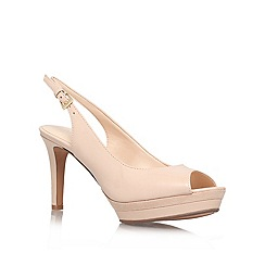 Nine West - Nude 'Able' mid heel occasion shoes