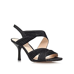 Nine West - Black 'Beaulah22' mid heel sandals