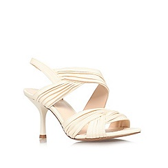Nine West - Nude 'Beaulah22' mid heel sandals