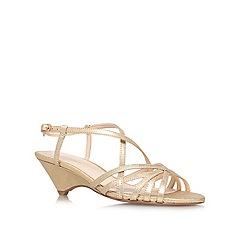 Nine West - Gold 'Beseech' low heel sandals