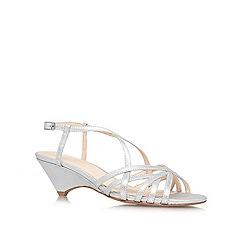Nine West - Silver 'Beseech' low heel sandals