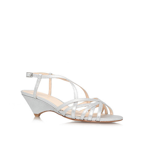 Nine West - Silver 'Beseech' low heel sandals