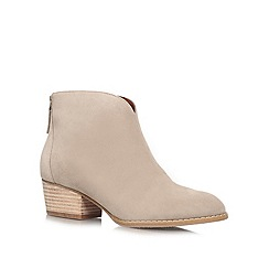 Nine West - Taupe 'Jarrad' low heel boots