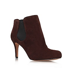Nine West - Brown 'Rallify' mid heel ankle boots