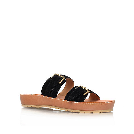 Nine West - Black +Ticktock+ flat sandals