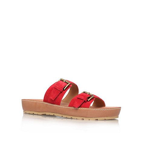 Nine West - Red +Ticktock+ flat sandals