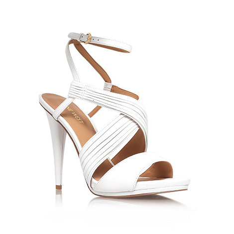 Nine West - White +Allysway+ high heel sandals