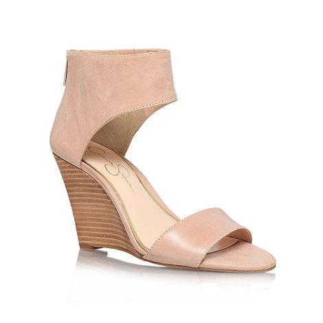 Jessica Simpson - Nude +Mera+ mid heel wedges