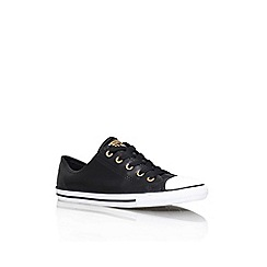 Converse - Black 'CT Dainty leather Low' flat lace up sneakers