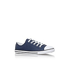 Converse - Blue 'Ct dainty lth lw' flat lace up sneaker