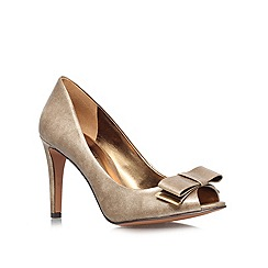 Nine West - Gold 'Dhara3' high heeled courts