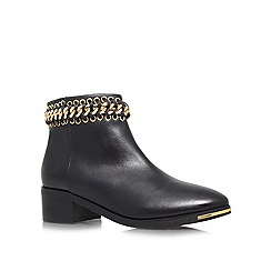 KG Kurt Geiger - Black 'Speed' low heeled leather ankle boots