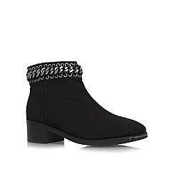 KG Kurt Geiger - Black 'Speed' low heeled suede ankle boots