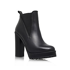 KG Kurt Geiger - Black 'Skye' Leather ankle boot