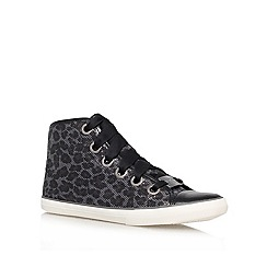Lipsy - Black Combination 'Zoe' Lace up hi-top trainers