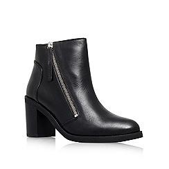 KG Kurt Geiger - Black 'Shake' mid block heel ankle boots