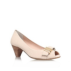 Carvela - Cream 'Adore' mid heel courts