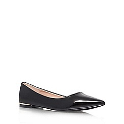 Carvela - Flat black 'Minnie' court shoe