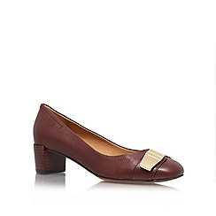 Nine West - Brown 'Ole8' Low Heel Court Shoes