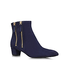 Nine West - Navy 'Tunic8' low heeled boots