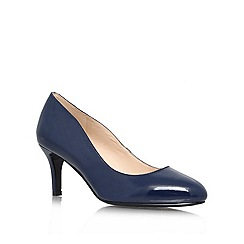 Nine West - Navy 'Applaud3' mid heel courts