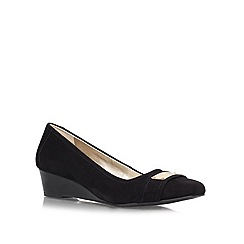 Anne Klein - Black 'Perrine' low wedged slip ons