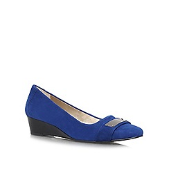 Anne Klein - Blue 'Perrine' low wedged slip ons