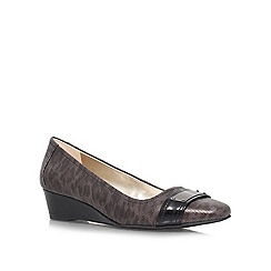 Anne Klein - Brown 'Perrine6' low wedged slip ons
