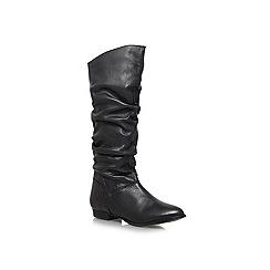 Carvela - Black 'Parker' Flat knee high boots