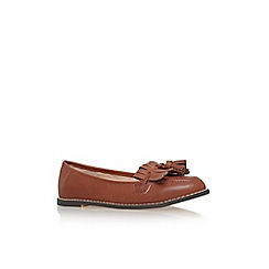 Carvela - Brown 'Maggie' flat tassel loafer