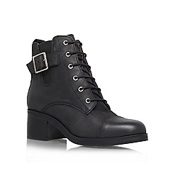 Carvela - Black Leather 'Staple' lace up boot