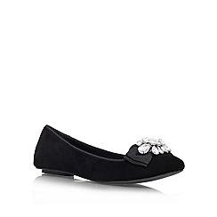 Miss KG - Black 'Monsieur' Flat Court Shoe