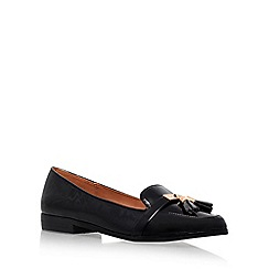 Miss KG - Black 'Nadia' Flat Court Shoe