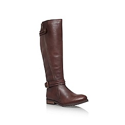 Miss KG - Brown 'Winner' Flat knee high boots