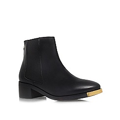 KG Kurt Geiger - Black 'Shadow' low heeled ankle  boots