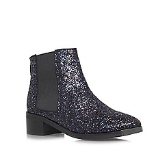 KG Kurt Geiger - Navy 'Shadow' low heeled ankle boots