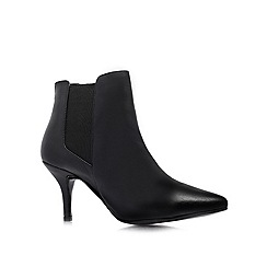 KG Kurt Geiger - Black 'Scamp' low heeled ankle boots