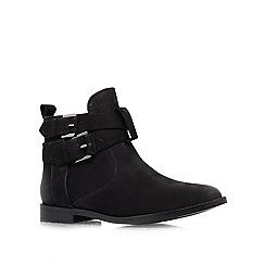 Miss KG - Black 'Solar' flat ankle boots