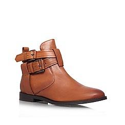 Miss KG - Tan 'Solar' flat ankle boots