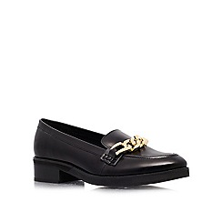 KG Kurt Geiger - Black 'Lightening' flat slip ons