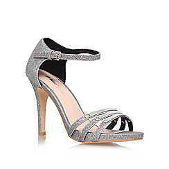 Miss KG - Silver 'Sabrina' High Heeled Court Shoe