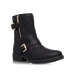 Miss KG - Black 'Justine' Flat buckled ankle boots boots