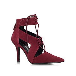 Nine West - Wine 'Jaiden' high heeled shoe boots